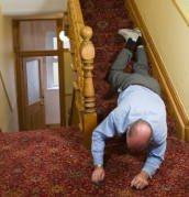 caduta per le scale
