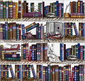 Libri alle pareti for Carta da parati libri