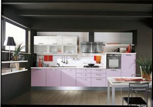 cucina, area di lavoro in linea