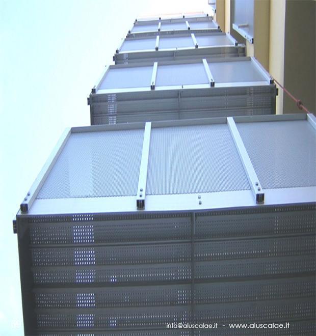 Balconi monoblocco in alluminio Aluscalae