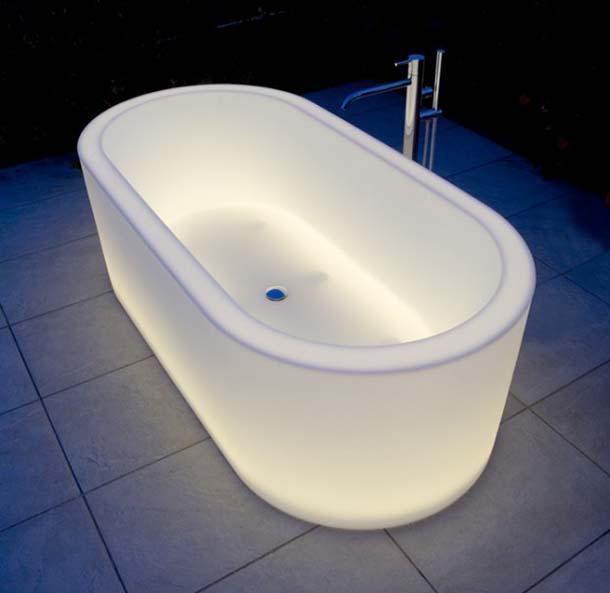 Vasche da bagno luminose - Vetro vasca bagno ...