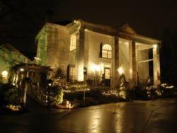 Scenario notte villa