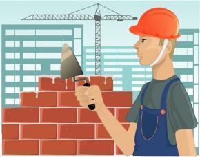 operaio e cantiere edile