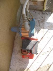 pompa con presscontrol installato in un alloggio