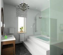 il vetro è sempre più presente nei bagni moderni