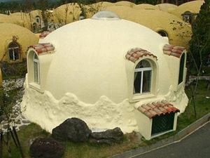 Dome house, case di polistirolo