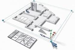 visione 3d di un elaborato strutturale