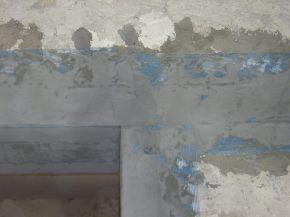 finitura della superficie esterna con rete portaintonaco e rasatura