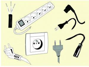 prese e prolunghe per impianto elettrico