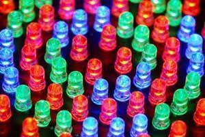 Composizione LED multicolore