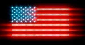 Strisce led: Decorazione raffigurante la bandiera degli Stati Uniti d'Americana