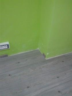 pannelli laminati in prossimità delle pareti