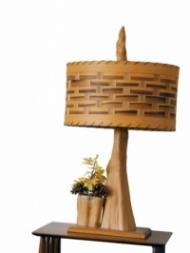 Lampada etnica in bamboo