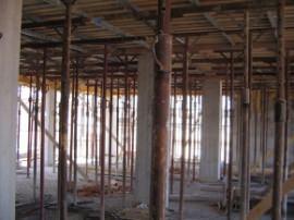 Strutture in cemento armato in costruzione