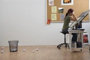 momento creativo di un designer
