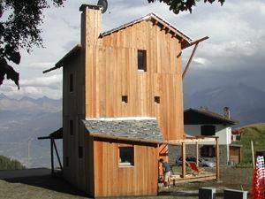 casa solare val d'Aosta, facciata