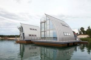 Prefa: Rivestimento copertura Case galleggianti