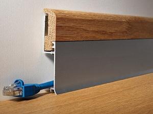 BATTISCOPA BASE BIB 800 ASN Alluminio Anodizzato di Profilitec