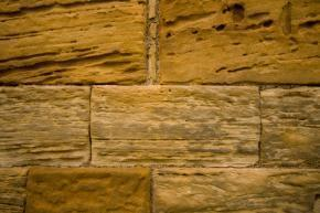 stato di degrado della pietra da fenomeno di erosione