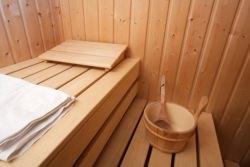 Interno di sauna