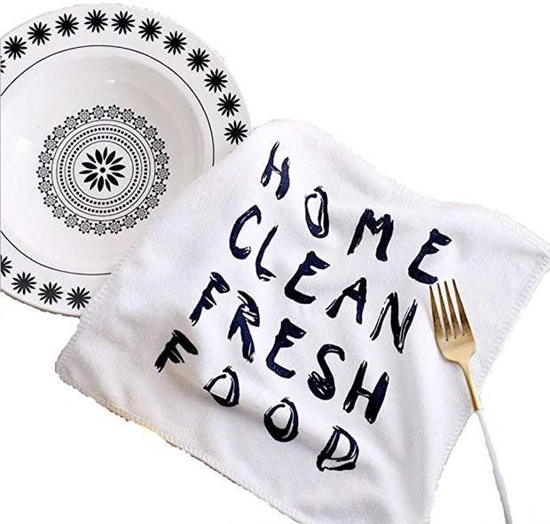 Fyuan Strofinacci da cucina asciugapiatti in microfibra poliestere panno di broccato