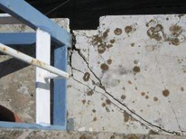 danno causato dal piantone innestato a quota pavimento