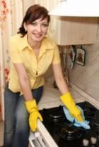 Pulizia della cucina a gas