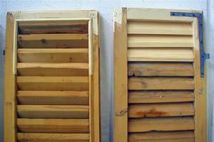 infissi in legno da riverniciare