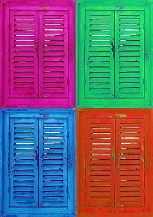 persiane in legno colorate