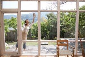Pulizia manuale dei vetri