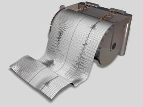 studio con attrezzatura di laboratorio delle effetti delle onde sismiche