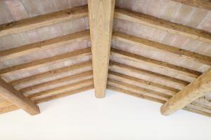 tetto con struttura in legno