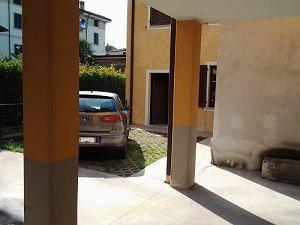 Spazio per stendibiancheria: Il parcheggio in diagonale.