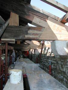 Mapei: capriata ricostruita