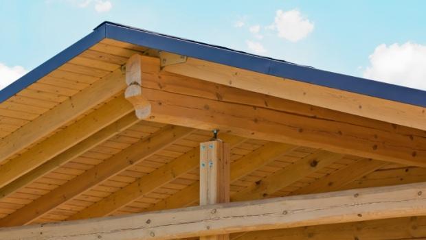 Plafoniere Per Tettoie In Legno : Sostituzione di pilastri legno