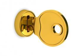 Serratura e chiave dorate