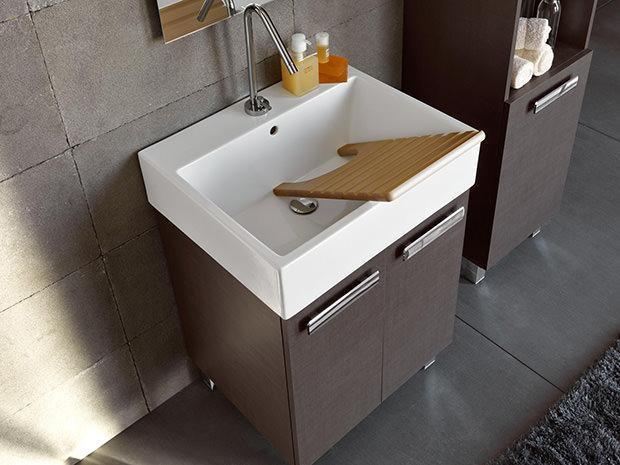 Mobili lavelli lavabo in ceramica per lavanderia - Arredo per lavanderia di casa ...