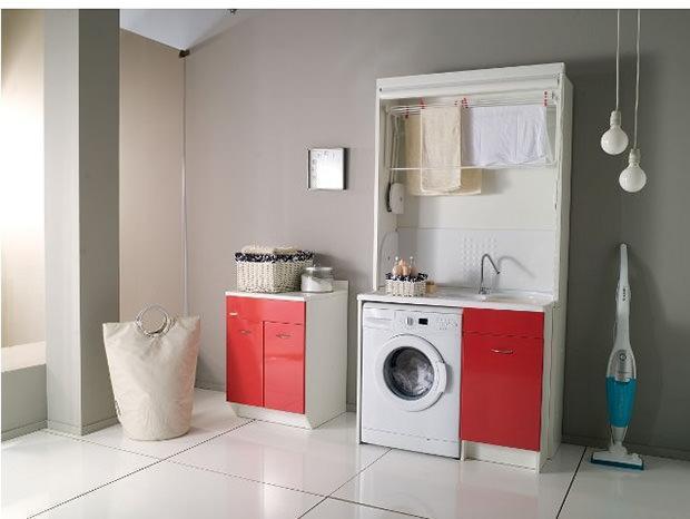 Mobili per la lavanderia moderna - Arredo per lavanderia di casa ...
