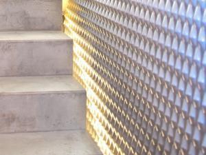 divisorio parete scala in lamiera, Mevaco