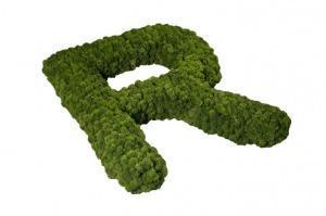 lettere in muschio per interni. NatureArt