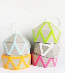 lampada con washi tape