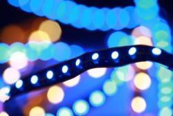 Striscia led a luce blu