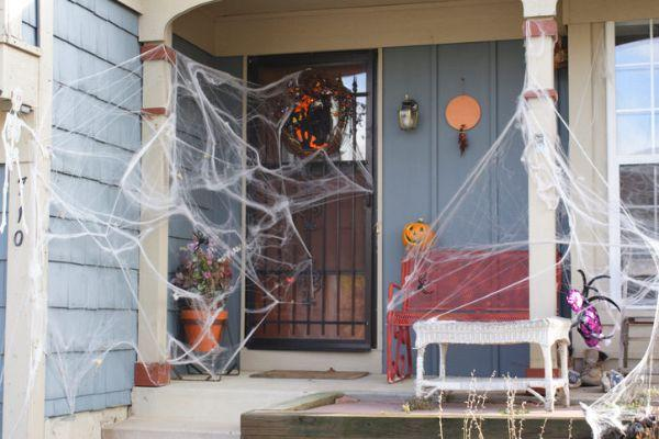 Giardino addobbatto per Halloween