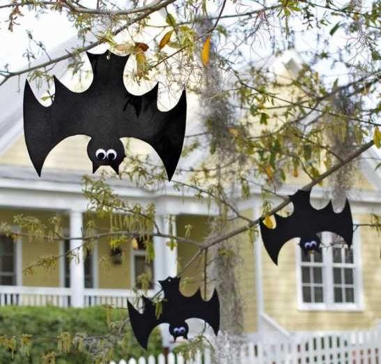 Addobbi halloween: finti pipistrelli di cartoncino