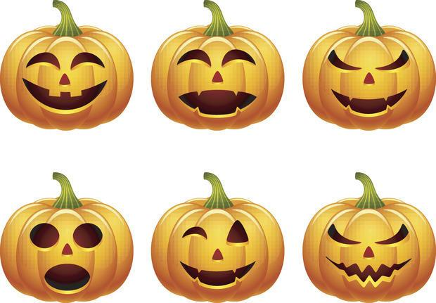Intagli su zucche per Halloween