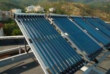 stringa collettori solari