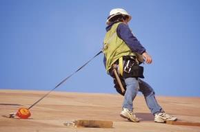 dispositivo di protezione per caduta da una copertura durante interventi edilizi