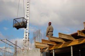 lavori edilizi in fase di realizzazione