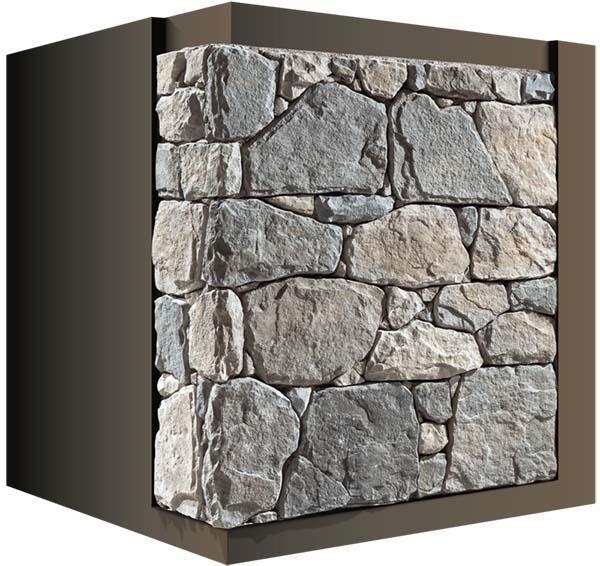 Posa in opera pietra ricostruita - Pietra per interni parete ...