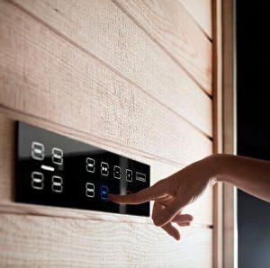 Sauna compatta: tastiera capacitiva